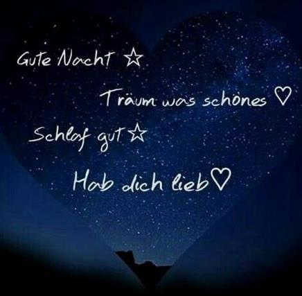 gute nacht liebes