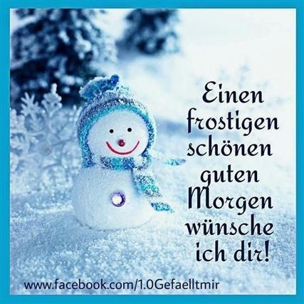 Guten Morgen Winter