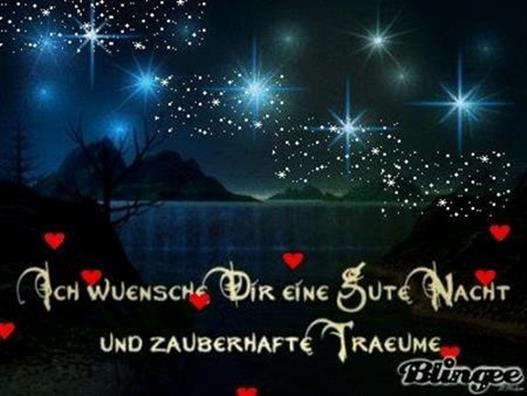 Nacht gute romantisch abend und schönen Gute nacht